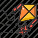 air, aircraft, fly, kite icon