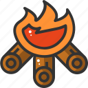 adventure, burn, camp, campfire, camping, fire, outdoor icon