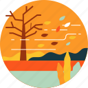 autumn, fall, forest, garden, leaf, leaves, tree icon