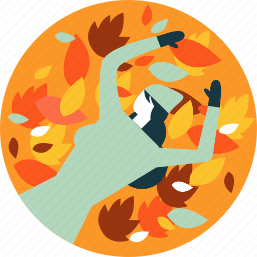 autumn, leaf, leaves, nature, relax, rest, sleep icon