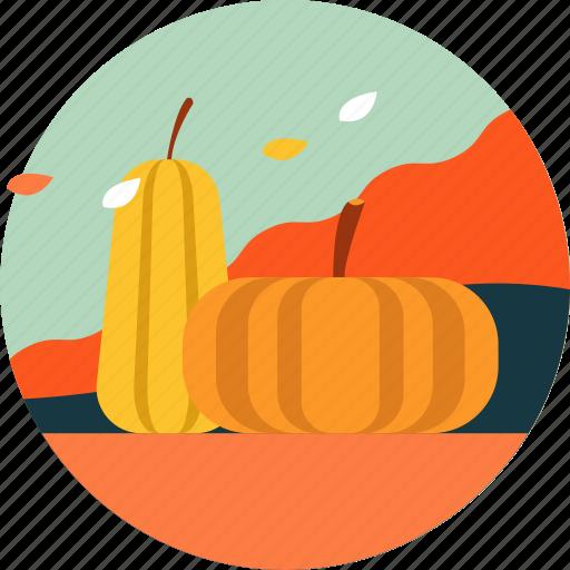 activity, autumn, festival, fruit, leaf, pumpkin, season icon