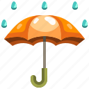 protection, rain, rainy, security, umbrella, weather icon