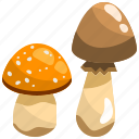 diet, food, gastronomy, healthy, mushroom, nutrition, vegan icon