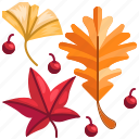 autumn, fall, garden, leaf, plant icon