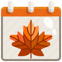 autumn, autumnal, calendar, date, fall, schedule, season icon