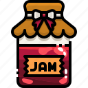 breakfast, conserve, food, jam, jar, strawberry