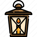 candle, fire, flame, lamp, lantern, light, oil icon