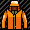 garment, jacket, overcoat, protection, rain, raincoat, winter