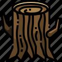 log, nature, stump, tree, wood icon