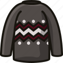 clothes, clothing, fashion, style, sweater, wear icon