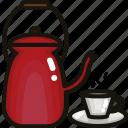 coffee, cup, drink, hot, mug, pot, tea icon