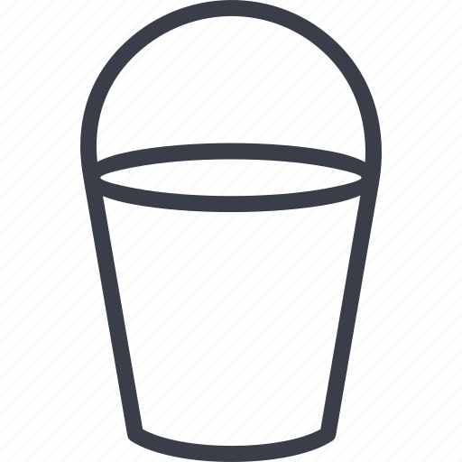 autumn, bucket, inventory, water icon
