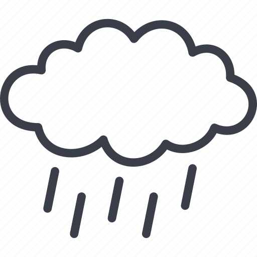 autumn, cloud, precipitation, rain, weather icon