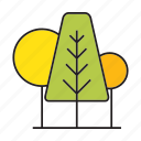 autumn, autumn tree, blossom, forest, nature, plant, tree icon