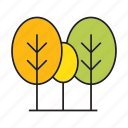 autumn, blossom, bush, forest, nature, plant, tree icon
