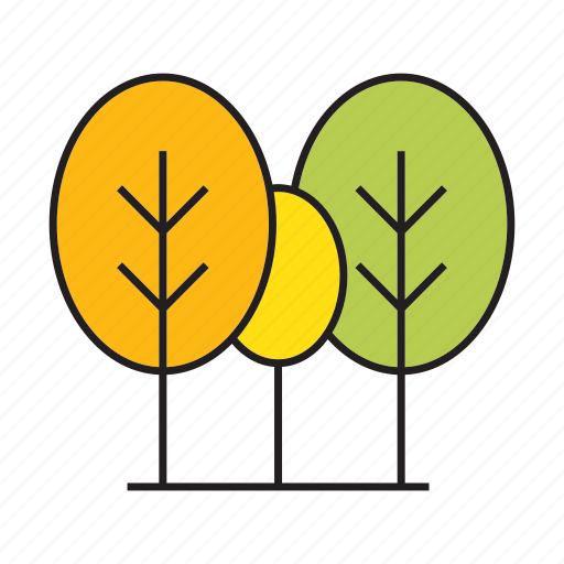 autumn, blossom, bush, forest, nature, plant, tree icon