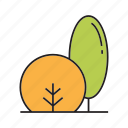autumn, autumn tree, bush, forest, nature, plant, tree icon