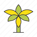 autumn, autumn tree, banana tree, forest, palm, plant, tree icon