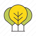 autumn, autumn tree, blossom, bush, forest, plant, tree icon