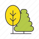 autumn, autumn tree, blossom, flora, forest, plant, tree icon