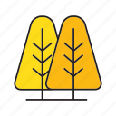 autumn, autumn tree, forest, pine, plant, spring, tree icon