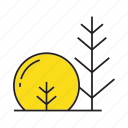 autumn tree, bush, flora, forest, plant, spring, tree icon