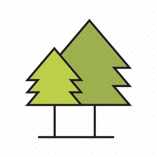 christmas tree, forest, nature, pine, plant, tree icon