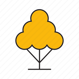 autumn, autumn tree, blossom, forest, plant, spring, tree icon