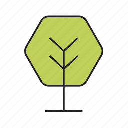 bush, flora, forest, nature, plant, spring, tree icon
