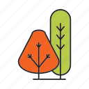 autumn tree, bush, forest, nature, plant, spring, tree icon