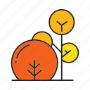 autumn, autumn tree, blossom, bush, flora, spring, tree icon