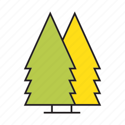 autumn, christmas tree, forest, nature, pine, plant, tree icon