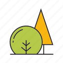 autumn, autumn tree, bush, flora, forest, plant, tree icon