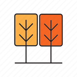 autumn, autumn tree, blossom, forest, pine, plant, tree icon