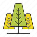 autumn tree, flora, forest, nature, pine, plant, tree icon