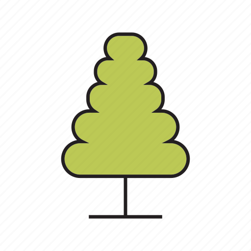 bush, christmas tree, forest, nature, pine, plant, tree icon