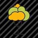 autumn, autumn tree, blossom, flora, forest, plant, tree icon