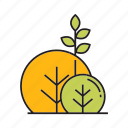 autumn, autumn tree, blossom, bush, forest, plant, tree icon