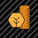 autumn, autumn tree, blossom, forest, nature, plant, tree icon