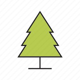 christmas tree, forest, nature, plant, tree icon