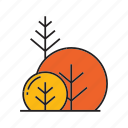 autumn tree, blossom, bush, forest, plant, spring, tree icon