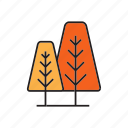 autumn, autumn tree, forest, nature, pine, plant, tree icon