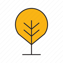 autumn tree, blossom, bush, forest, nature, plant, tree icon