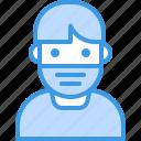 avatar, covid, face, man, mask