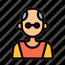 oldman, avatar, user, profile
