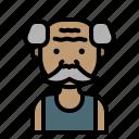 farmer, man, asian, grandfather, avatar