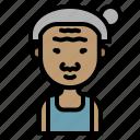 farmer, woman, asian, grandmother, avatar