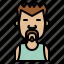 fighter, boxer, asian, man, avatar