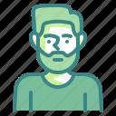 caucasian, man, male, irish, avatar
