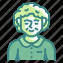 grandmother, grandma, elderly, woman, avatar